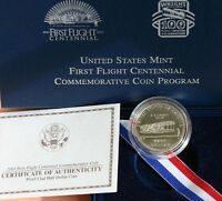 2003 First Flight Centennial Proof Clad Half Dollar Commemorative Coin Complete