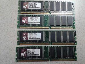 1GB SET - KINGSTON 256MB X 4 PC2100U DDR DESKTOP MEMORY - 4 PIECES @ 256MB EACH