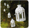 Solar Powered White Lantern String Lights Hanging Fairy Outdoor LED's Moroccan