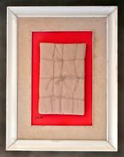 CHRISTO -- A 1960s ORIGINAL MIXED-MEDIA ASSEMBLAGE, CONCEPTUALISM, 3-D, FRAMED