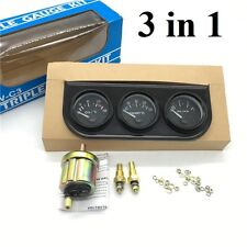 52 mm Triple kit Oil Temp Gauge Water Temp Gauge Temperature Oil Pressure 3 in 1