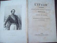 1860 RISORGIMENTO AMEDEE DE CESENA STORIA DELLA CAMPAGNA DEL 1859 VERONA MANTOVA
