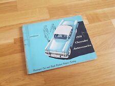 RARE 1958 Chevrolet Accessories Book / Bel Air, Biscayne, Corvette & Impala
