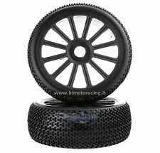 821003B RUOTE COMPLETE CERCHI NERI BUGGY 1:8 BUGGY BLACK TIRE & RIM HIMOTO 2PZ