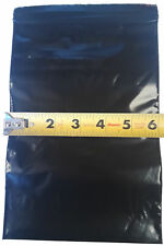 1000 6x9 Ziplock Flat Black Plastic Poly Zip Lock Bags Pouches 6x9