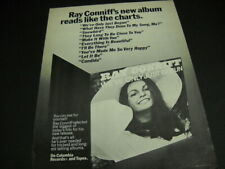 Ray Conniff his new album reads like the c 00001444 harts Original 1970 Promo Poster Ad