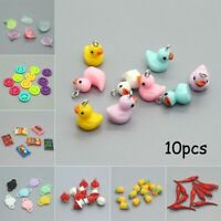 10pc Mixed Pendant Charms Earring Animal Food Fruit Key Chains DIY Charm Jewelry
