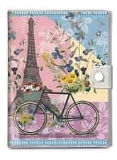 "Journal/Notebook - ""Paris Trip"" -  Eiffel Tower, Bicycle & Floral Design"