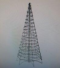 Pre Lit Led 6' Fold Flat Outdoor Indoor Christmas Tree Multi Col Lori Greiner ✞