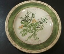 "American Atelier Bouquet Garni 5011 8"" Rosemary Lemon Salad Plate"