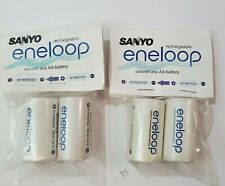 Sanyo Eneloop Battery Adaptor Converter AA to C 2 pks of 2 (4 battey converters)