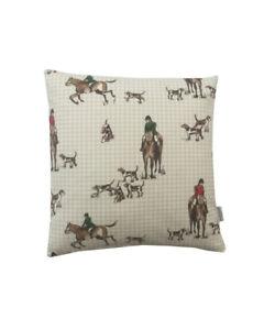 Horse & Hound Handmade UK Cushion Covers Equestrian Hunting animal Design