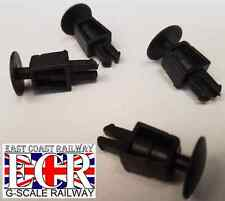 2 PAIRS (4) BRAND NEW G SCALE 45mm GAUGE FLAT BED BUFFERS FLATBED TRAIN RAILWAY