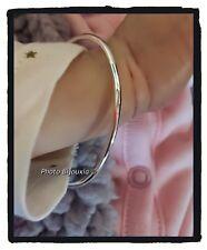 Bracelet jonc bébé fil rond en argent massif 925/1000 diamètre 4,5cm NEUF