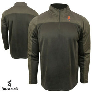 Browning Milo Performance 1/4 Zip Pullover Shirt - Choose Size & Color - NEW!