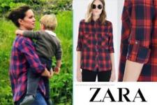 ZARA  kariert red blue rot blau Bluse Hemd Shirt – neu new XS ASO Royal