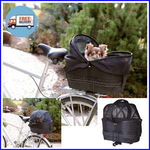 DOG CAT PET CARRIER - Safe Travel Bike Bicycle Cycle Basket Bag for Cycling