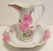 Porcelan Givenchy Rose Bowl & Pitcher~Exclusively from Franklin Mint