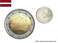 2 Euros Commémorative Lettonie 2019 Soleil Levant UNC