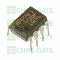 9PCS M24C01-WBN6P IC EEPROM 1KBIT 400KHZ 8DIP ST