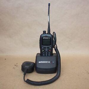 SIMOCO XD SDP660 UW HAND HELD DIGITAL PORTABLE UHF two way RADIO + charger bay