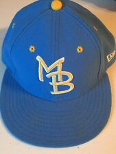 NWOT 59fifty Cap Minor League Baseball MB Myrtle Beach Pelicans Fitted 7 1/8