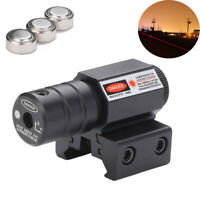 Mini Red Dot Laser Sight Low Profile Picatinny Weaver Rail For Pistol Rifle Tool