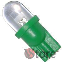 2 LED T10 VERDE Lampade Lampadine Per Luci Targa e Posizione W5 12V