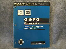 1996 GMC Chevy Truck Service Manual Supplement G & PG Chassis GMT/96-G&PG W414