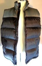 Athletech Nylon Down Puffer Vest Mens Size Large Black Gray Zip Up