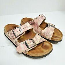 Birkenstock Papillio women SZ 6 pink floral causal slide slip on sandal Shoes