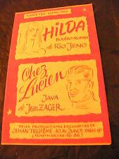 Partition Hilda Rio Jeno Chez Lucien Jean Zager