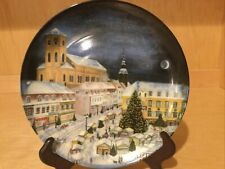 KAISER 1999 Collector Plate Christmas Scene Homburg (Hamburg) Germany SAARLAND