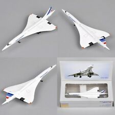 Aircraft Model 1:400 Concorde Airplane Model Air France 1976-2003 Diecast Gift