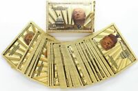 Donald Trump MAGA Playing Cards Deck Poker Hold Em Gold Foil $100 Bill Note