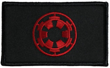 """Star Wars Imperial Tactical Hook and Loop Embroidered Black & Red 2"""" X 3.5"""""""