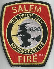 """Salem - 1626, MASS  """"Witch City - black border""""   (4"""" x 5"""" size)  fire patch"""
