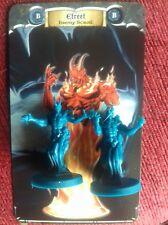 Acreditó 2x figuras espadas & Sorcery Kickstater Boardgame fuego elemental monstruos
