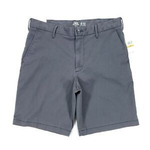 """Izod Salwater 9.5"""" Relaxed Fit Stretch Flat Front Chino Shorts Men's 33 Gray"""