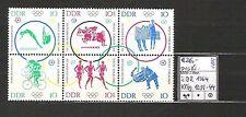 DDR 1964 Olympische Sommerspiele, Tokio (II) Sechserblock MiNr. 1039 - 1044**