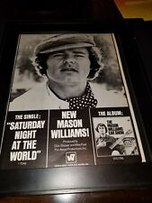Mason Williams Saturday Night At The World Rare Original Promo Poster Ad Framed!