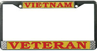 VIETNAM VETERAN HIGH QUALITY METAL LICENSE PLATE FRAME - MADE IN THE USA !