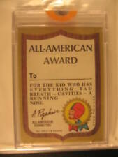 1968 Topps Kooky Awards Shield PROOF Card All American