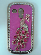 Jewelled Peacock Diamond Bling Back Case Cover fits Samsung Galaxy S3 Mini i8190