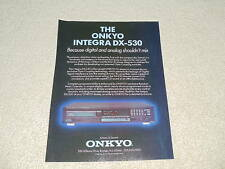 Onkyo Integra Dx-530 CD Ad, 1988, Artikel, 1 Seite