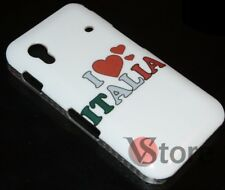Cover Custodia Per Samsung Galaxy Ace S5830 I love Italia Retro rigida