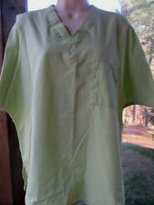 Cherokee  SCRUB TOP Size M -Solid Color Light Green Unisex  Check Measurements