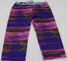 NWT Under Armour Girls Fitted HeatGear Striped Capri Leggings sz YXL/TG/EG #2