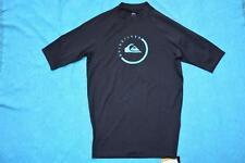Quiksilver K up SS Rash Vest - Black/blue Trim Size L Gr8 Rashie New-