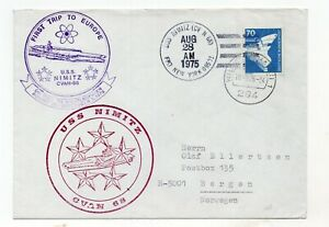 US 1968 CVAN 68 First Trip to Europe USS Nimitz Naval Cover posted in Germany